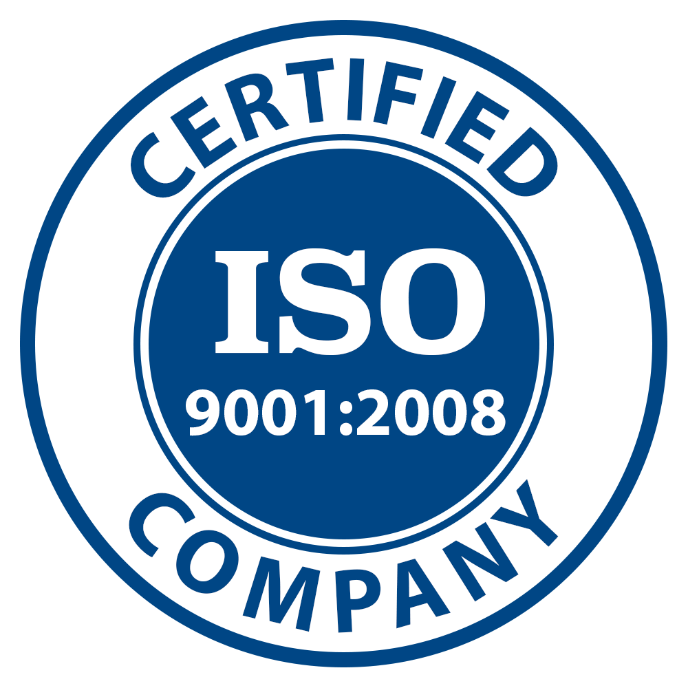 We're ISO 9001-2008 Certified