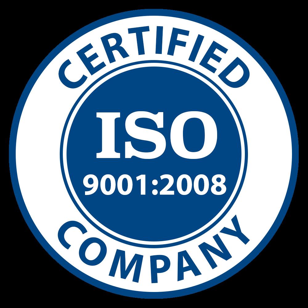 We're ISO 9001-2008 Certified